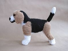 Crocheted Beagle Stuffed Animal (Prototype Blowout Sale). $25.00, via Etsy.