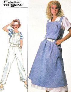 1980s Womens Jumpsuit Pattern and Dress Loose by paneenjerez, $12.00