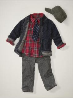 Gap baby clothes, for Christmas for my mom I went to the gap and i bought an entire matching baby outfit with some Gap 1969s a flannel shirt etc for little baby Eli, so that way when I take him out he's well dressed haha.