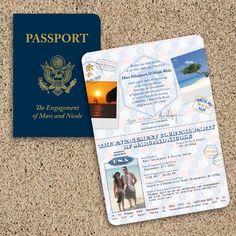 """Totally want passport invitations!!! Or even an Up inspired one that says """"Our adventure book"""" and when you open it """"we want to include you""""!!!"""
