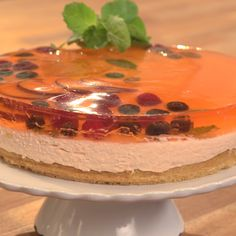 A fluffy mango mousse cake that is the perfect summer dessert.