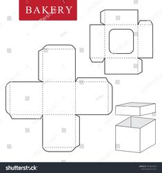 Bakery Packaging, Box Packaging, Diy Gift Box, Diy Box, Cardboard Crafts, Paper Crafts, Wedding Cake Boxes, Origami And Kirigami, Box Patterns