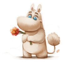 Day 538. Moomintroll Quickie by Cryptid-Creations ★ Find more at http://www.pinterest.com/competing/