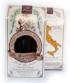 Chocolate Dipped Chocolate Hazelnut Biscotti Gift Box (9.5 oz.)