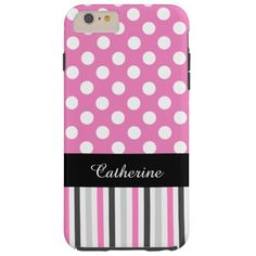 Pink Stripes and Polka Dot iPhone 6 Plus case iPhone 6 Case