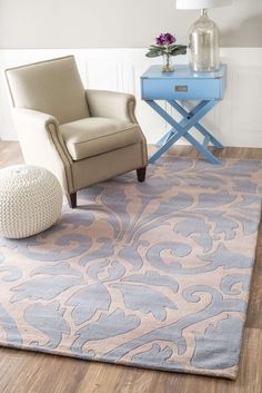 Blend modern design with a traditional pattern and find the Rugs USA Spectrum Modern Damask Rug. The rug features a damask design that is lightly laid onto a solid backdrop. Because the damask pattern is only several shades lighter than the background, it gives a subtle decorative feel without feeling bold or obtrusive. The hand tufted weave of this rug gives a textured look to the damask pattern, which also helps set it apart from the background. This rug is a great choice for those looking…