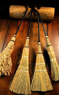 Handmade Wrought Iron Hearth Brooms by Organic Artist Tree