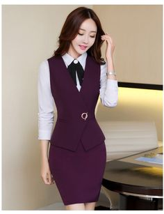 9 Office Uniform For Women, Office Outfits Women, Office Ladies, Classic Work Outfits, Stylish Work Outfits, Womens Dress Suits, Suits For Women, Clothes For Women, Latest African Fashion Dresses
