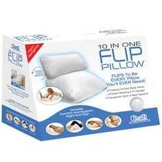 Contour 10 in 1 Flip Pillow Sleeping Reading Wedge Supportive Comfort - Footit Medical, CPAP,