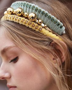 Glamorous Hair by LELET NY - Sharing today these stunning headbands and hair clips from designer Sara Bieler Sasson's label Lelet NY. Perfect for fall style and dressing, these ha Glamorous Hair, Fringe Hairstyles, Grunge Hair, Bandeau, Fall Hair, Hair Goals, Hair And Nails, Hair Inspiration, Hair Clips