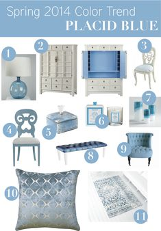 "Pantone Home Decor Color Trend: ""Placid Blue"" – Vielle and Frances Colorful Interior Design, Colorful Decor, Home Decor Colors, House Colors, Beautiful Interiors, Decoration, Color Trends, Home Furnishings, Home Accessories"