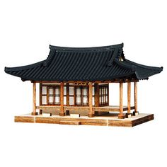 Japanese Pagoda, Japanese Tea House, Traditional Japanese House, China Architecture, Concept Architecture, Architecture Design, Model House Kits, Bamboo House Design, Chinese Buildings