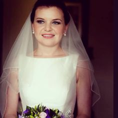 Bridal hair and makeup by Charlotte George. Soft brown smokey eyes with a nude lip.