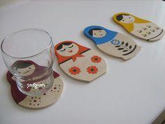 Little Matroyshka coasters :)