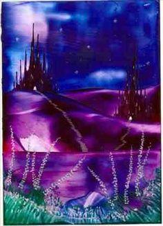 midnight castles one of my encaustic art paintings
