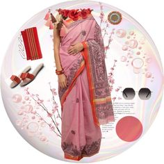 The style files today feature a pink Madhubani cotton saree. We've styled it with coral red accessories picking up on the border of the saree. A pair of black sunglasses finishes this look. Featured Products  Pink Madhubani Cotton Saree – 4000/- The Loom  Bhamini Raw Silk Clutch – 995/- Vilara  Catwalk Orange Bow Sandals – …
