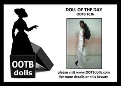 07.06.14 -  Today, we are previewing doll OOTB 1036, and she is wearing her sea-foam white dress to provide the contrast of our usual liking to to play black-on-black signature theme that you have seen in other previous dolls from our OOAK collection! She is also going to be part of our debut at the upcoming NBDCC Nashville! Enjoy!  Please visit our website for more details on this beauty! www.OOTBdolls.com