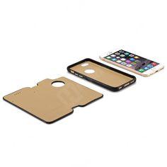 Etui, pokrowce, futerały Etui ICARER   Skórzany pokrowiec 2 w 1 firmy iCarer do Apple iPhone 6 czarny   EKLIK - Sklep GSM, Akcesoria na tablet i telefon