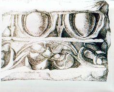 Copia dal vero da un modello in gesso. Allievo Matteo Castagnini sez. Decorazione plastica, 1994. ISA Istituto statale d'arte Stagio Stagi Pietrasanta.