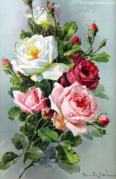 Alenquerensis: Catherine Klein (1861 - 1929) - El pintor de rosas / Catalina Klein pintor de rosas.