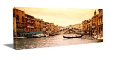 Rialto Bridge in Venice, Italy. Seen as a Gallery-Wrapped Canvas.     http://www.ultramurals.com/product/rialto_bridge,_venice,_italy.html