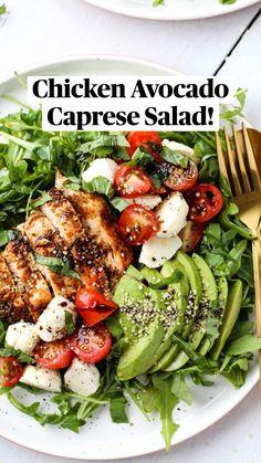 Best Salad Recipes, Summer Salad Recipes, Healthy Meal Prep, Healthy Salad Recipes, Lunch Recipes, Healthy Snacks, Healthy Eating, Dinner Salads Healthy, Dinner Salad Recipes
