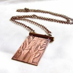 Bamboo, Wood and Stone - Etched Pendant | JewelryLessons.com