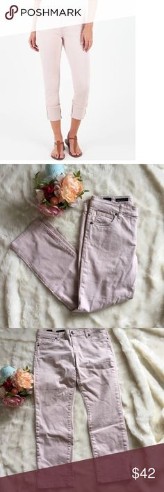 """🆕 Listing! KUT Blush Cameron Straight Leg Blush rose KUT from the Kloth Cameron Straight Leg jeans.  The first picture is the closest thing on their website, same style/color however these are not cuffed and not frayed on the bottom like the picture.  Inseam is 26"""" and a rise of 9"""".  Excellent condition. Kut from the Kloth Jeans Ankle & Cropped"""