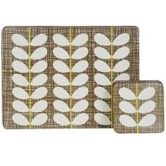 Orla Kiely Cross Hatch Placemats And Coasters