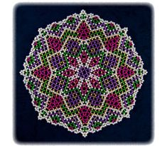free seed bead patterns for doilies Seed Bead Patterns, Doily Patterns, Beading Patterns, Beaded Beads, Seed Bead Projects, Beaded Jewelry Designs, Diy Jewellery, Jewelery, Beaded Christmas Ornaments