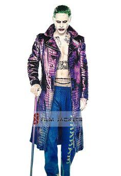 Jared Leto Joker Suicide Squad Crocodile Pattern Coat