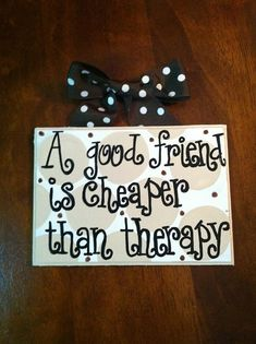 I saw a lot of these mini-signs with quotes on them. I love the idea to put my own quotes on canvas or other art board and hang throughout the house. This one is from LizzyBee07 on Etsy.