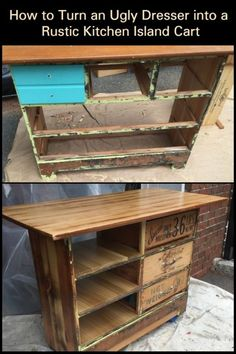 Here's a great idea for a kitchen island that will cost you next to nothing!