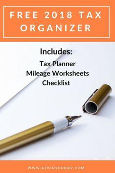 Downloadable tax organizer for 2018 income tax preparation.