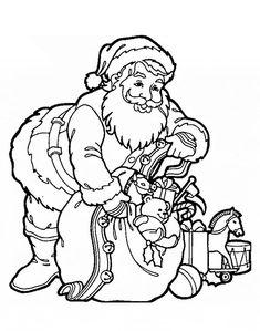 Ausmalbilder Canta Claus #weihnachten #ausmalen #malvorlagen #painting #coloring