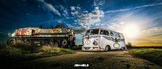 Vw bus # tank # germany... ♠  # van # classic # old school ♠... X Bros Apparel Vintage Motor T-shirts, VW Beetle & Bus T-shirts, Great price