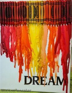 Jeg har lenge sett disse prosjektene rundt omkring på nettet, og har alltid hatt lyst til å lage et selv. Grunnen til at jeg ikke har gjort det enda er i grunnen at jeg er litt lat tror jeg, jeg ha... Crayon Art, Melted Crayon Crafts, Melted Crayon Art, Pencil Art