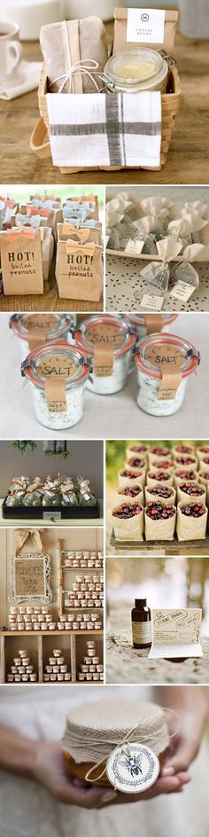 Packaging ideas for handmade gifts of food and more. Great ideas for party favors.