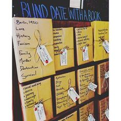 Blind date.....with a book!