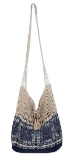 Batik Cotton and Hemp Shoulder Bag