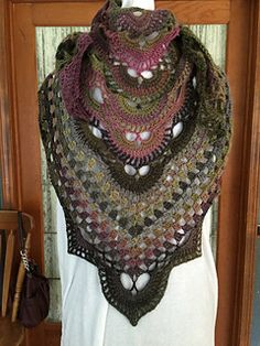 Virus shawl Free pattern