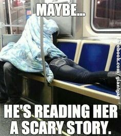 Maybe His Reading Her A Scary Story Click to comment, vote and smile : )