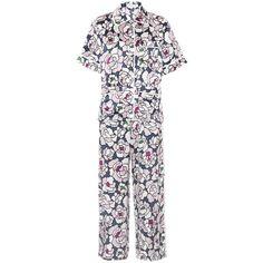 Olivia von Halle Daria Silk-Satin Pyjama Set (8.049.280 IDR) ❤ liked on Polyvore featuring intimates, sleepwear, pajamas, lingerie, multicoloured, silk satin pajamas, lingerie sleepwear and lingerie pajamas