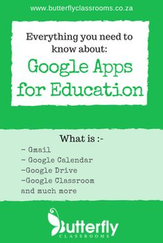 GAFE - Everything you need to know - Butterfly Classrooms Free Teaching Resources, Learning Activities, Gmail Google, Technology Integration, Best Blogs, Google Classroom, Educational Technology, Need To Know, Everything