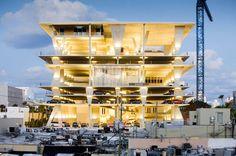 1111 Lincoln Road Parking by Herzog & de Meuron (Miami, Florida, USA) Parking Building, Parking Lot, Car Parking, Parking Space, Santiago Calatrava, Zaha Hadid, Richard Rogers, Layout Design, A As Architecture