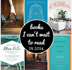 The books I can't wait to read in 2014. All these books are coming out this year and I can't wait to get my hands on them! #books #reading