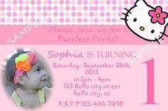 Printabe Hello Kitty Birthday Girl Photo Invitation on Etsy, $12.99 Hello Kitty Birthday, Girl Birthday, Hello Kitty Invitations, Photo Invitations, Girl Photos, Linux, Handmade Gifts, Party, Etsy
