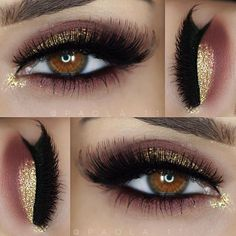 Pink and gold shimmer