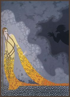 Erté (Romain de Tirtoff, 1892 - 1990), costume design for Mélisande and Golaud, February 1987