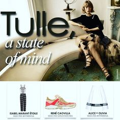 TULLE A State Of Mind | Trend Alert !  #fashion #trendfortrendcom #clickandpublish #inspiration #instacool #tulle  #ss16 #isabellemarantetoile #jumpsuit #aliceolivia #skirt #mytheresa #renecaovilla #sneakers @luisaviaroma | Find more images http://bit.ly/1W2Xl3P